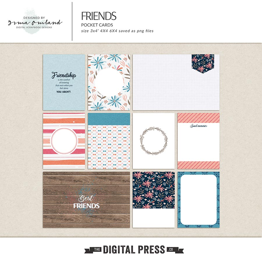 Friends - journaling cards