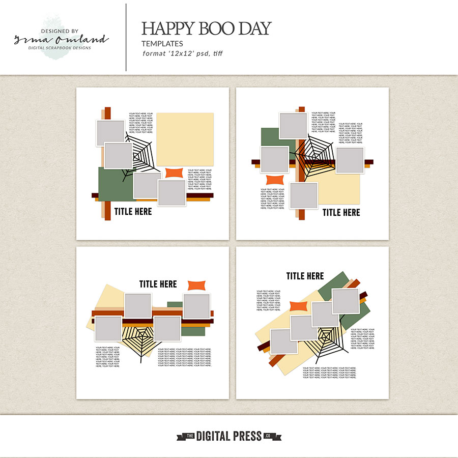 Happy Boo Day - Templates