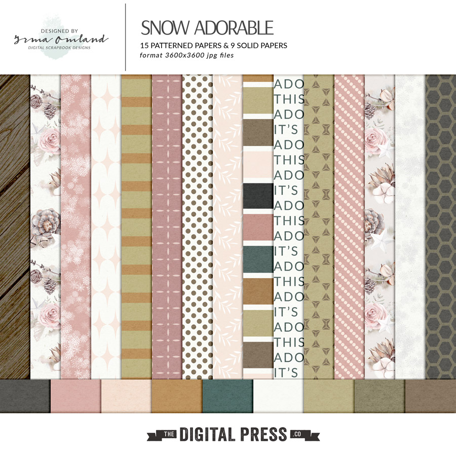 Snow adorable - paper pack