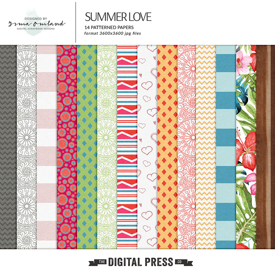 Summer love - patterned papers