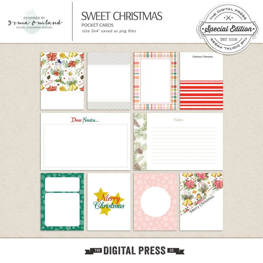 Sweet Christmas - Journaling Cards