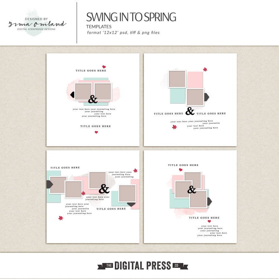 Swing in to spring | Templates