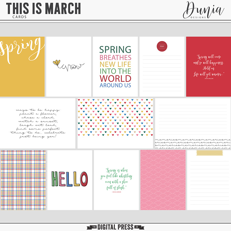This is March   Cards