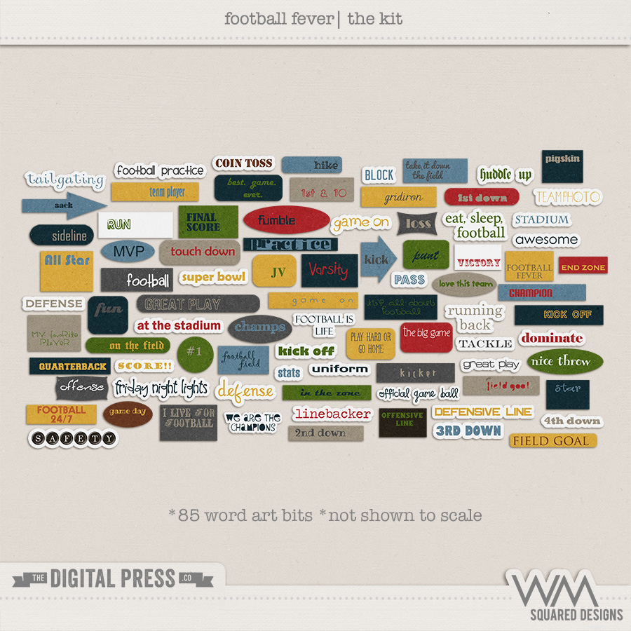 Football Fever | The Word Art Bits