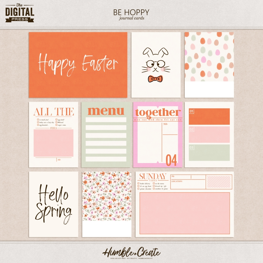 Be Hoppy | Journal Cards
