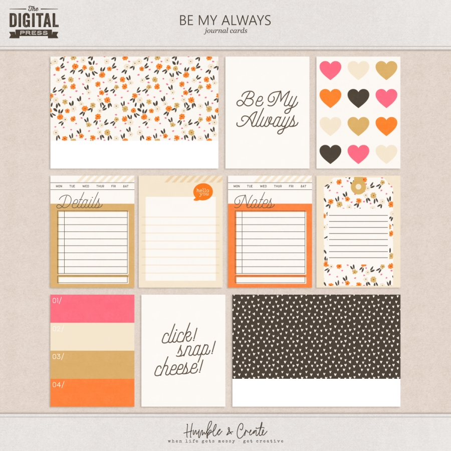 Be My Always | Journal Cards