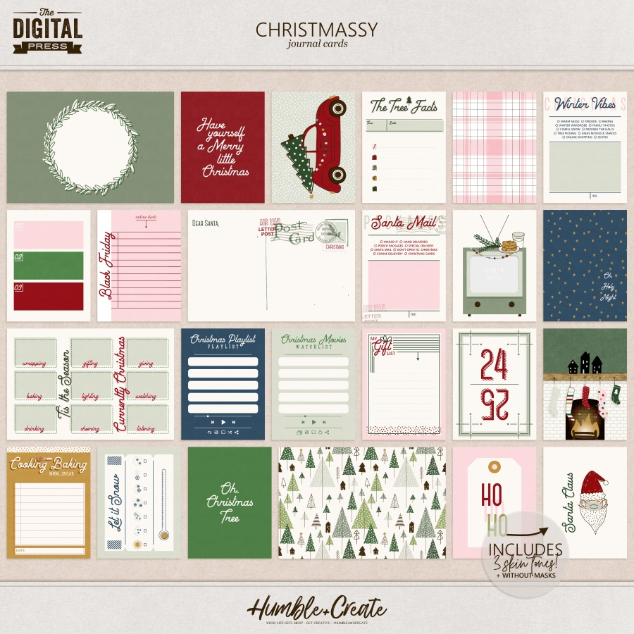 Christmassy | Journal Cards