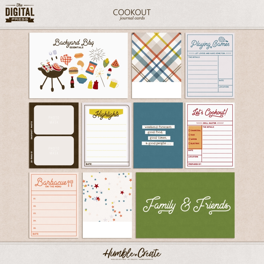 Cookout | Journal Cards