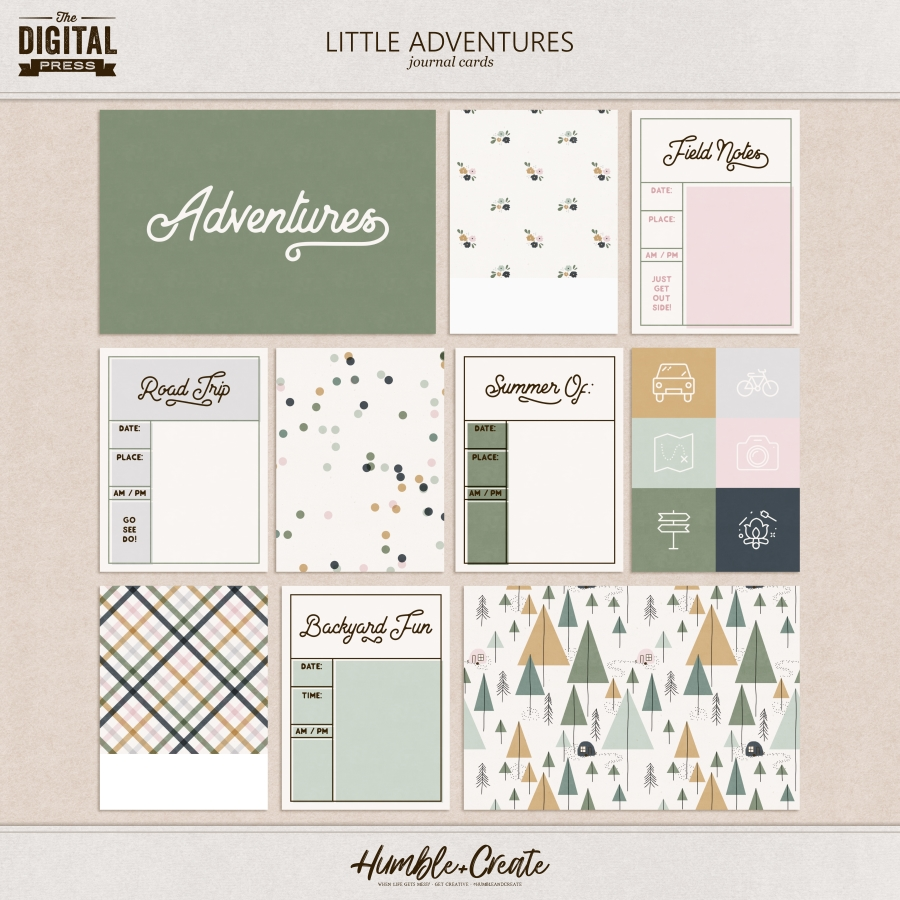 Little Adventures | Journal Cards