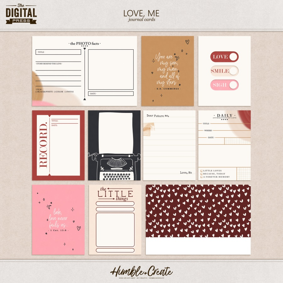 Love, Me | Journal Cards