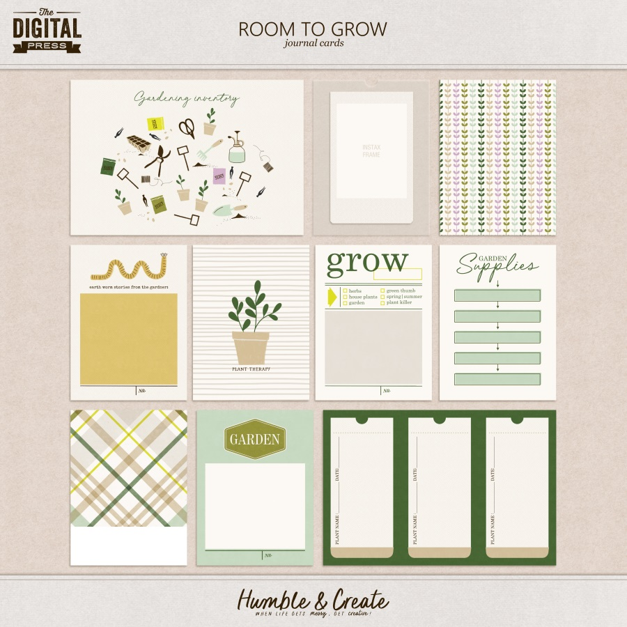 Room to Grow | Journal Cards