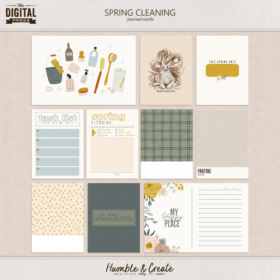 Spring Cleaning | Journal Cards