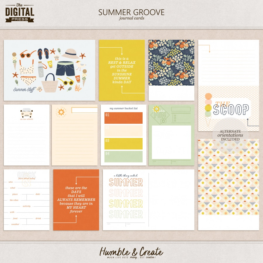 Summer Groove   Journal Cards