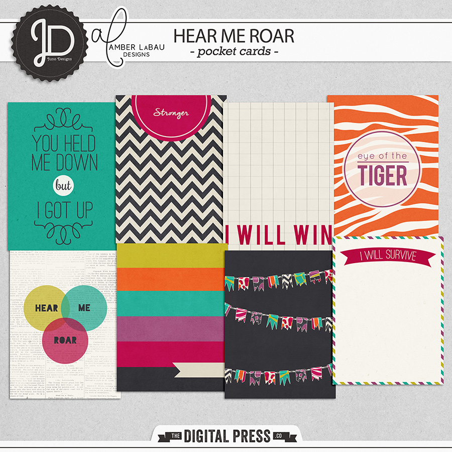 Hear Me Roar | Cards by Juno Designs and Amber LaBau