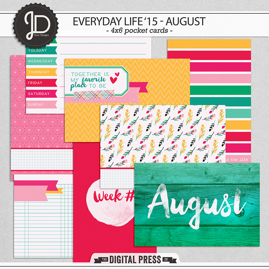 Everyday Life '15 - August | 4x6 Cards