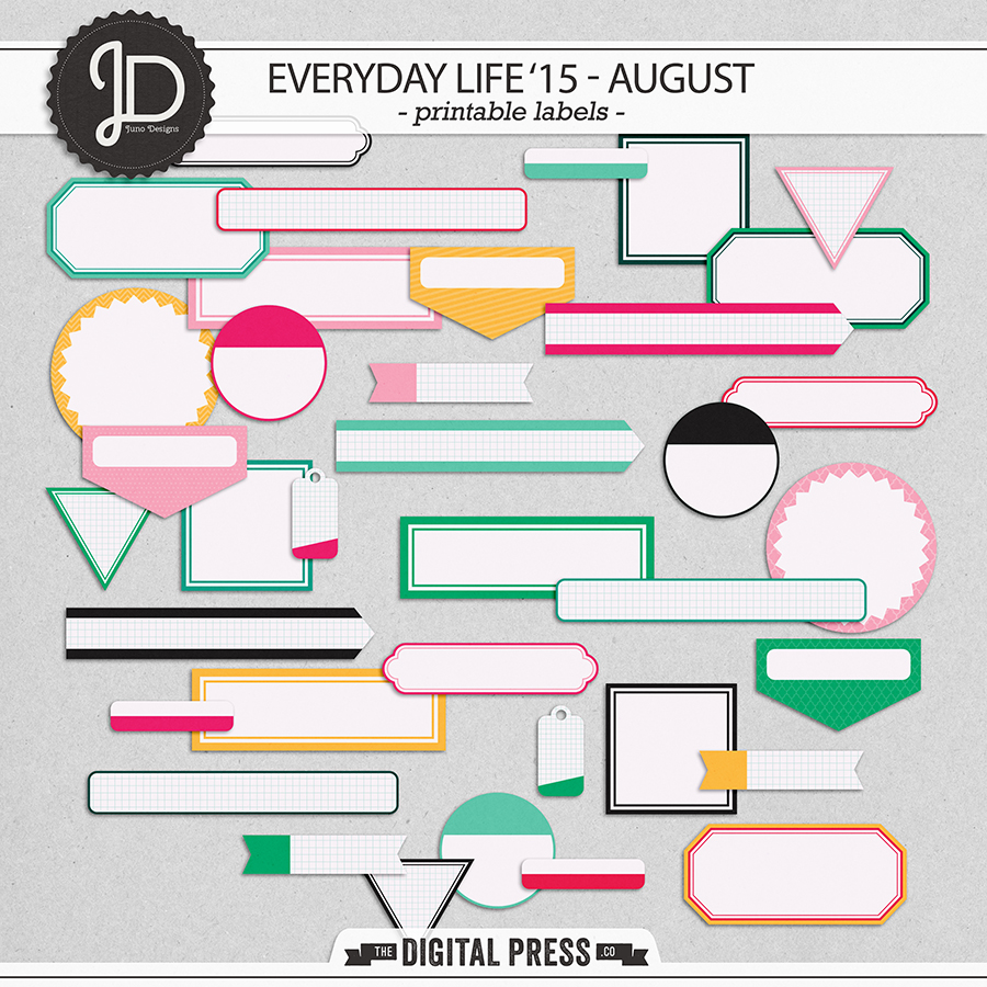 Everyday Life '15 - August | Labels