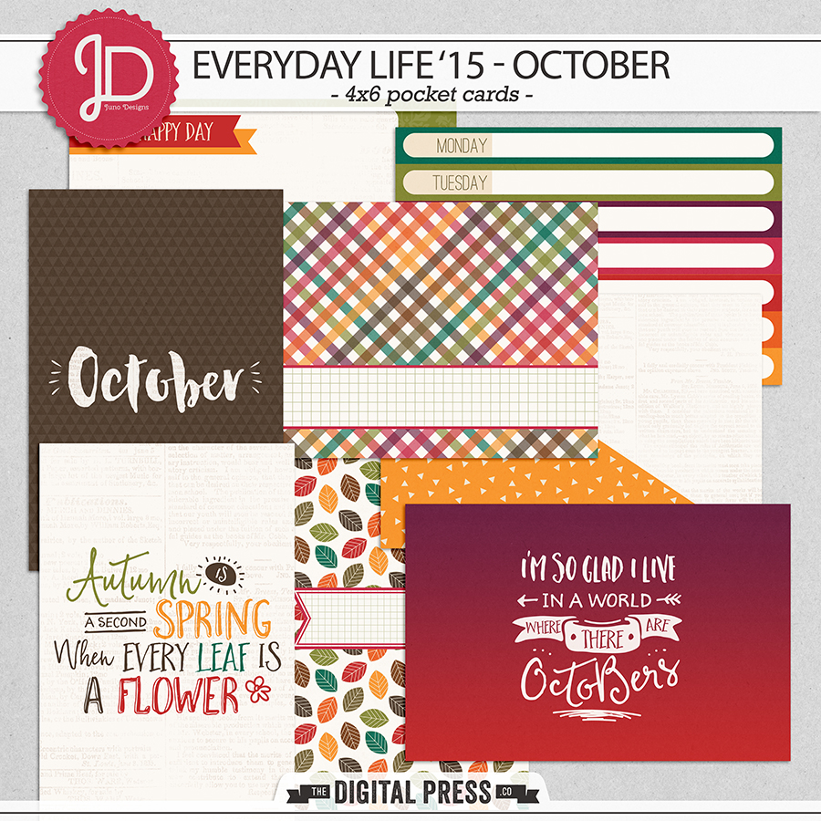 Everyday Life '15 - October   4x6 Cards