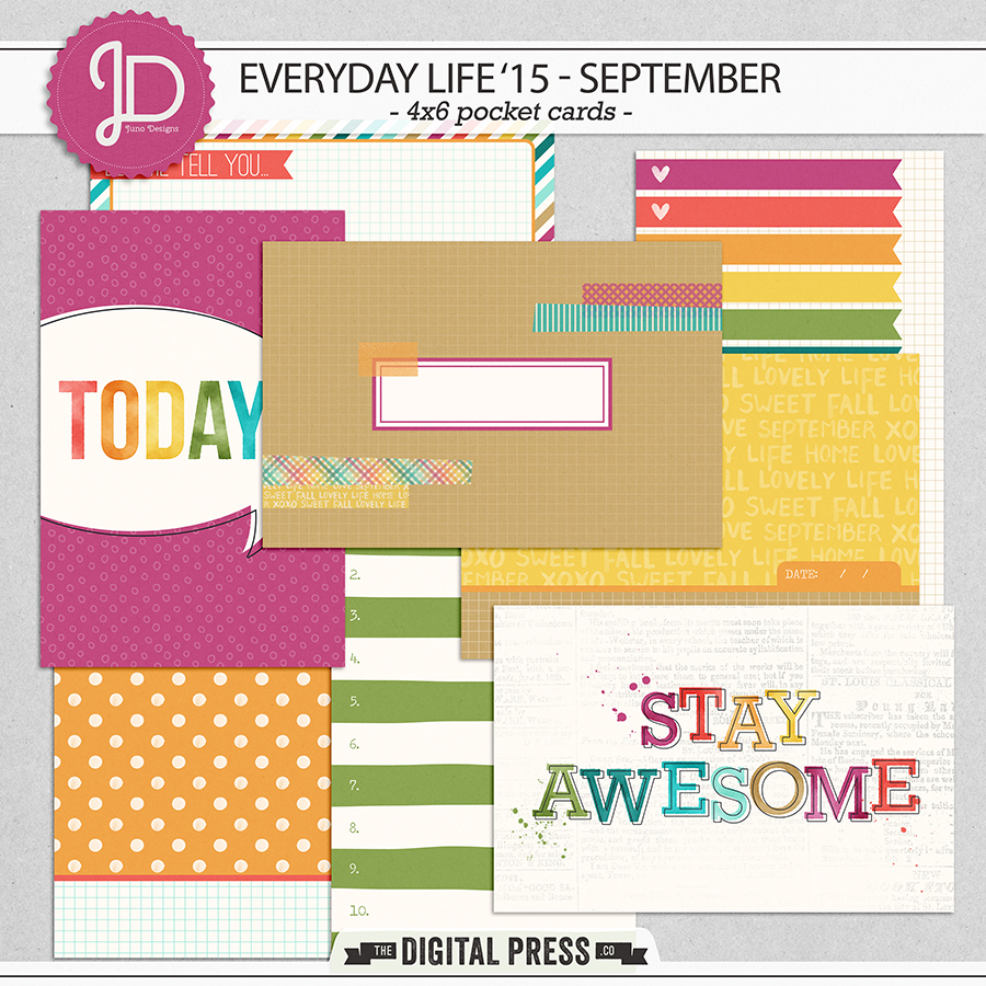 Everyday Life '15 - September | 4x6 Cards