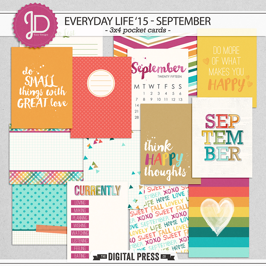 Everyday Life '15 - September | 3x4 Cards