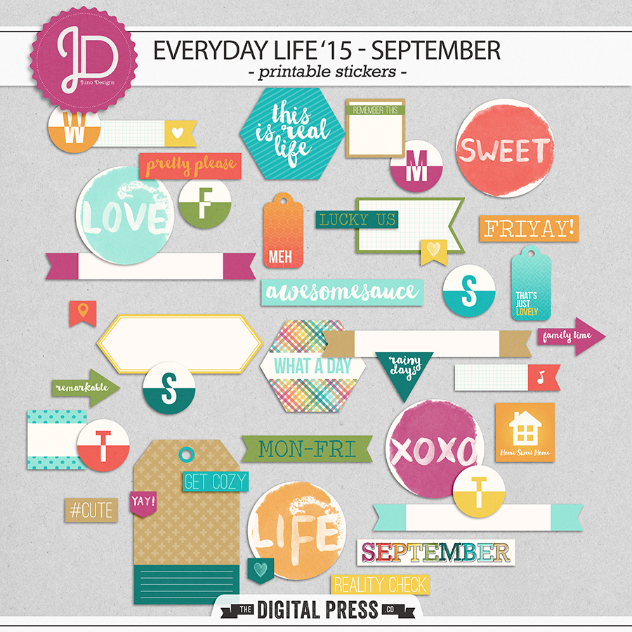 Everyday Life '15 - September | Stickers