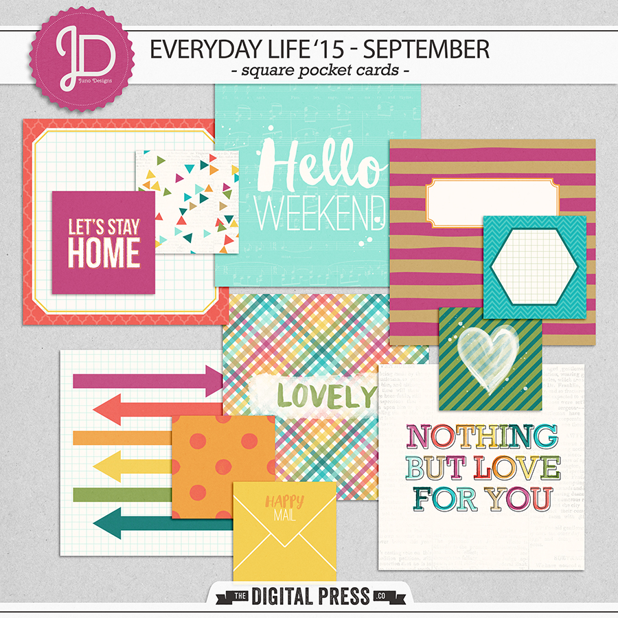 Everyday Life '15 - September | Square Cards