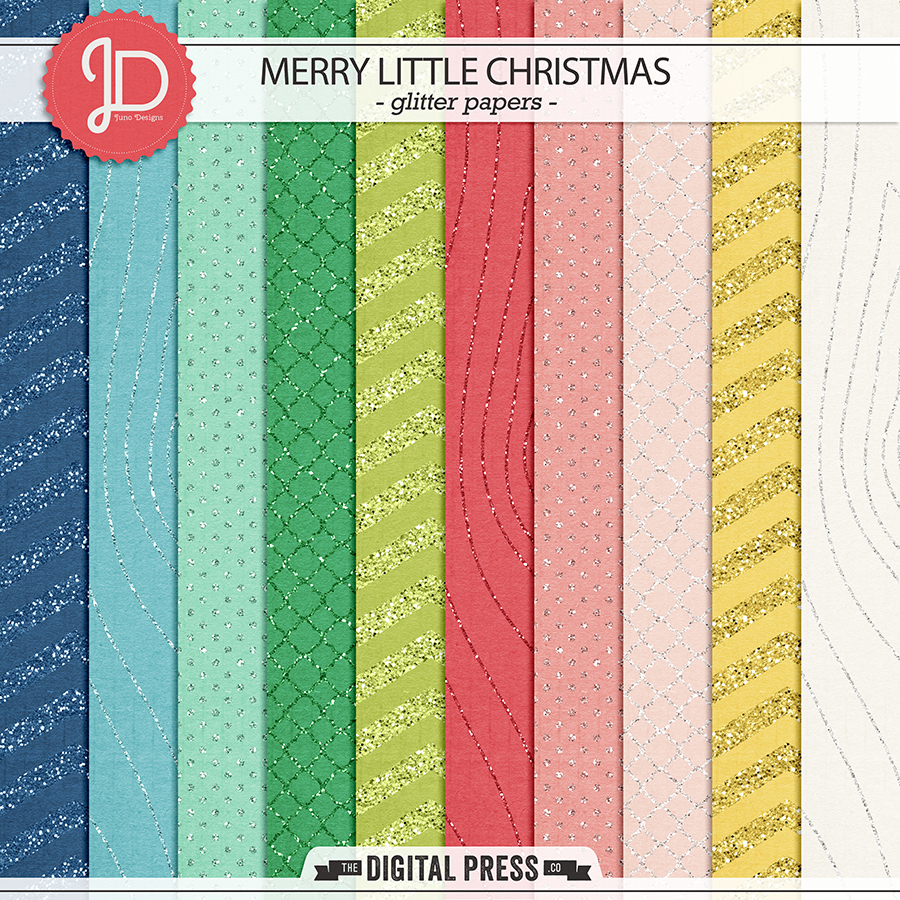 Merry Little Christmas | Glitter Papers
