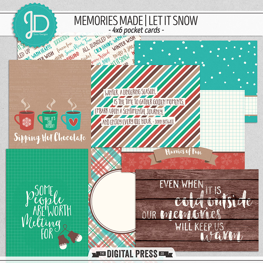 Memories Made   Let It Snow - 4x6 Cards