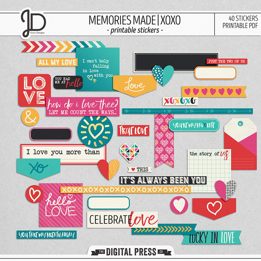 Memories Made | XOXO - Stickers