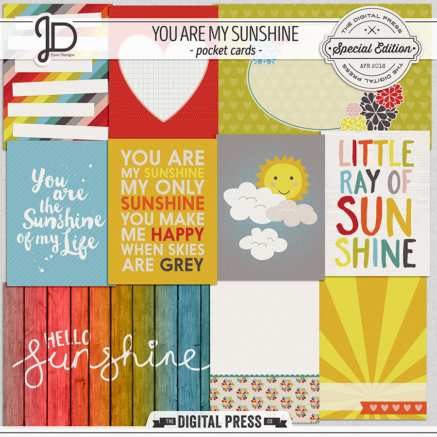 You Are My Sunshine | Pocket Cards