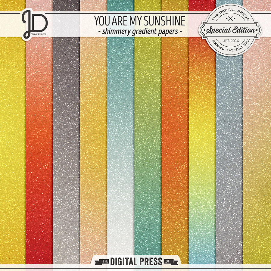 You Are My Sunshine | Shimmery Gradient Papers