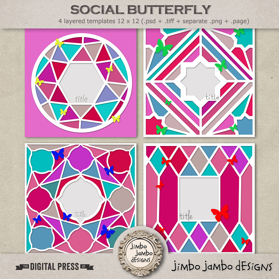 Social butterfly   Templates