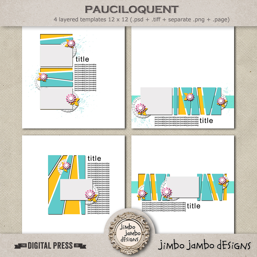 Pauciloquent Templates by Jimbo Jambo Designs