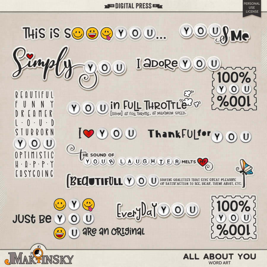 All About You | Word Art