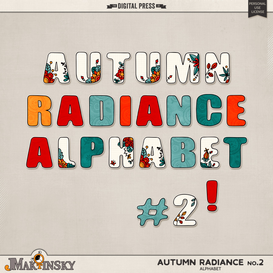 Autumn Radiance no.2 | Alphabet