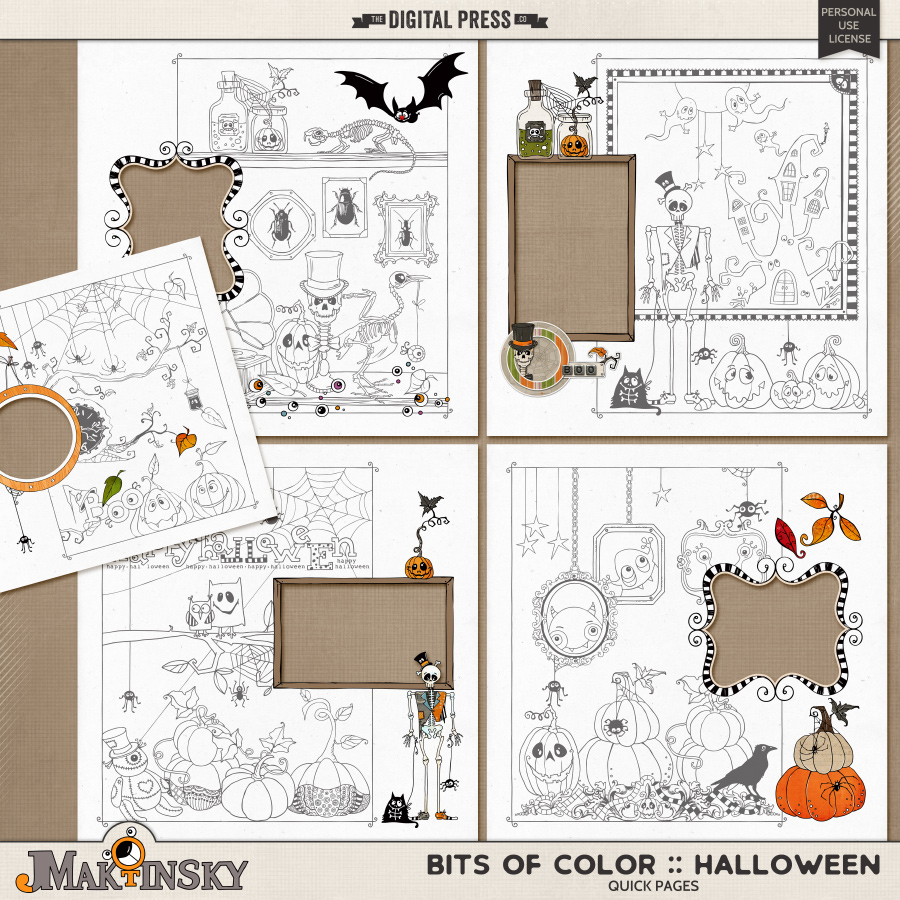 Bits of Color :: Halloween | Quick Pages