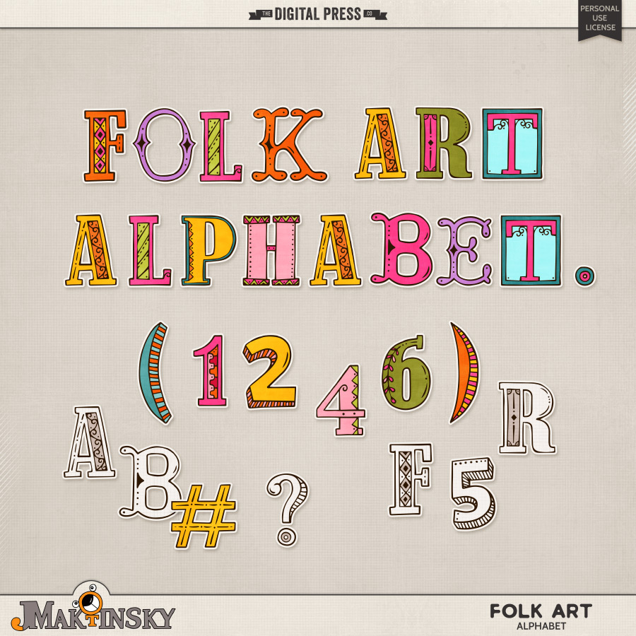 Folk Art Alphabet