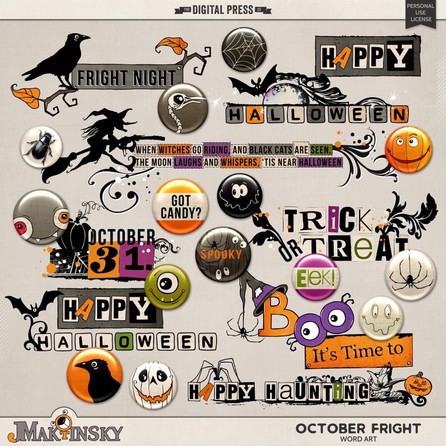 October Fright | Word Art