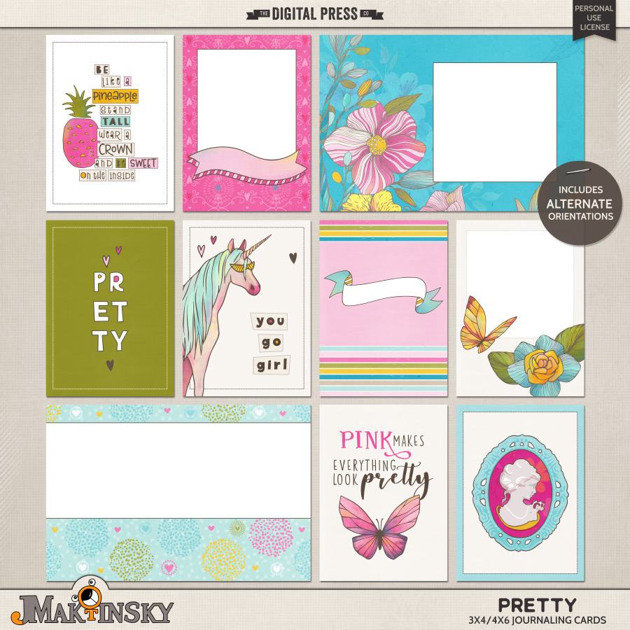 Pretty | Journal cards