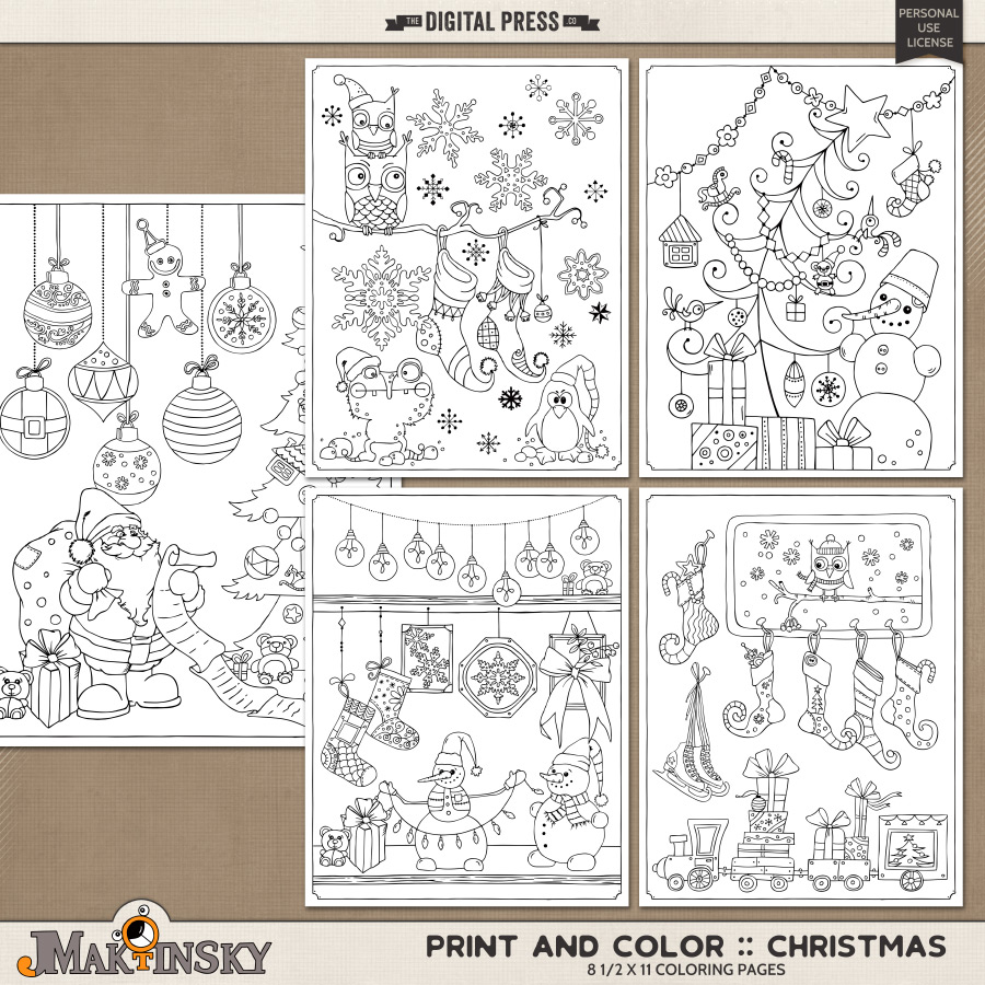 Print and Color :: Christmas