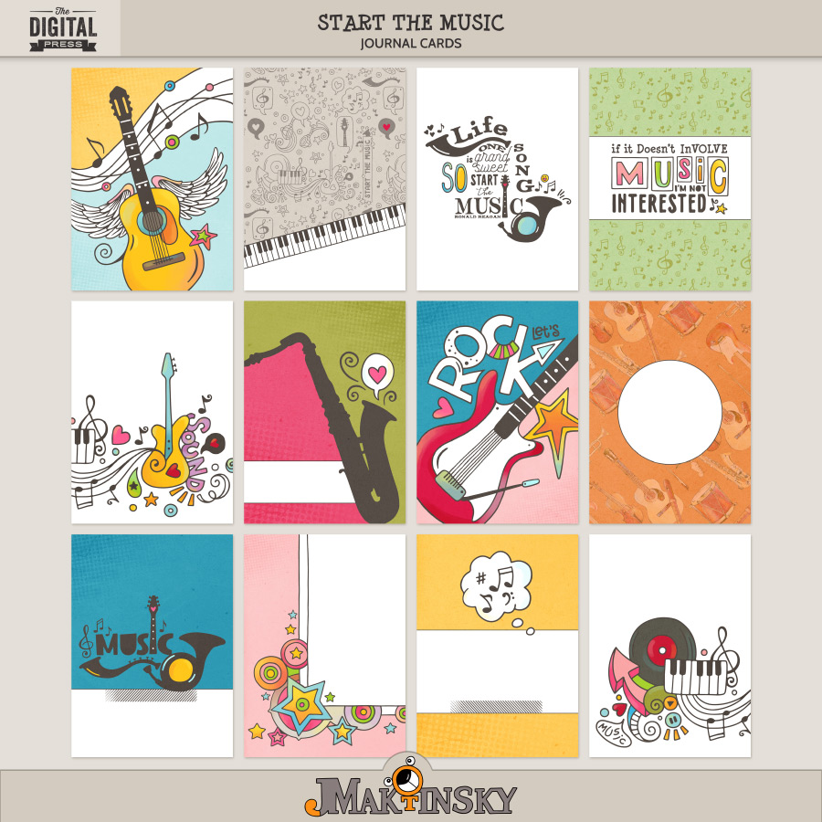Start the Music | 3x4/4x6 cards