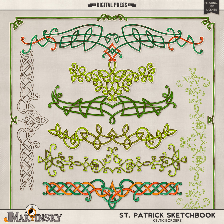 St.Patrick Sketchbook: Celtic Borders