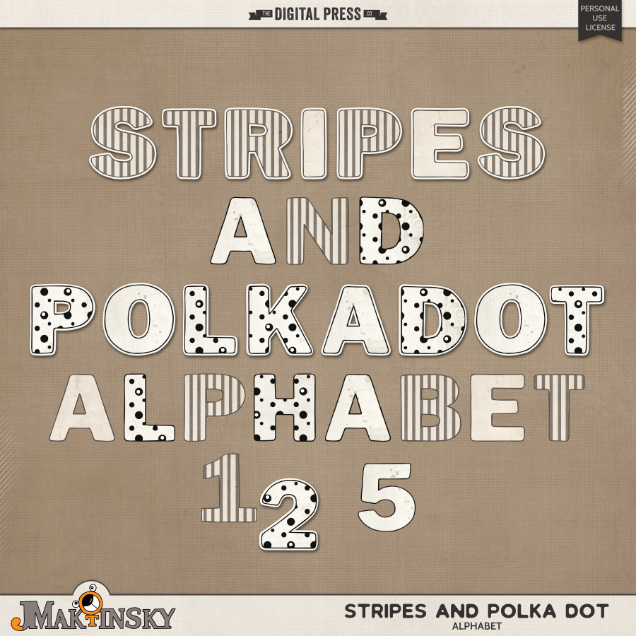 Stripes and Polka Dot | Alphabet