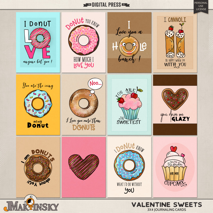 Valentine Sweets | 3x4 cards