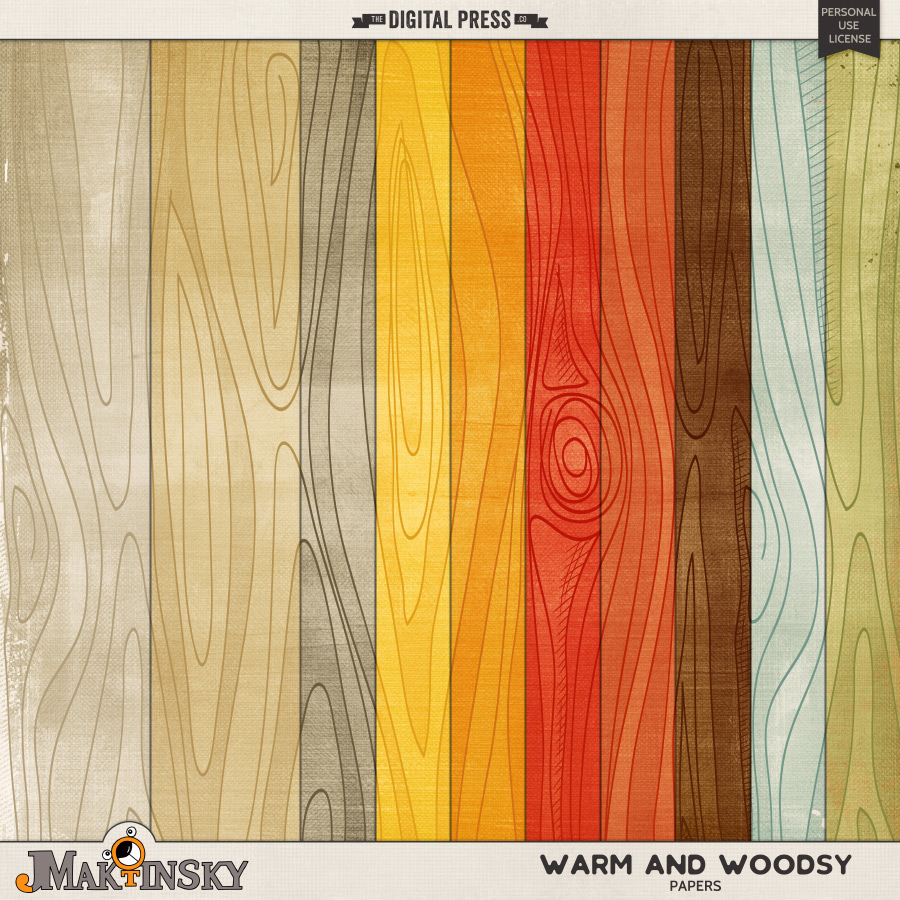 Warm and Woodsy   Papers