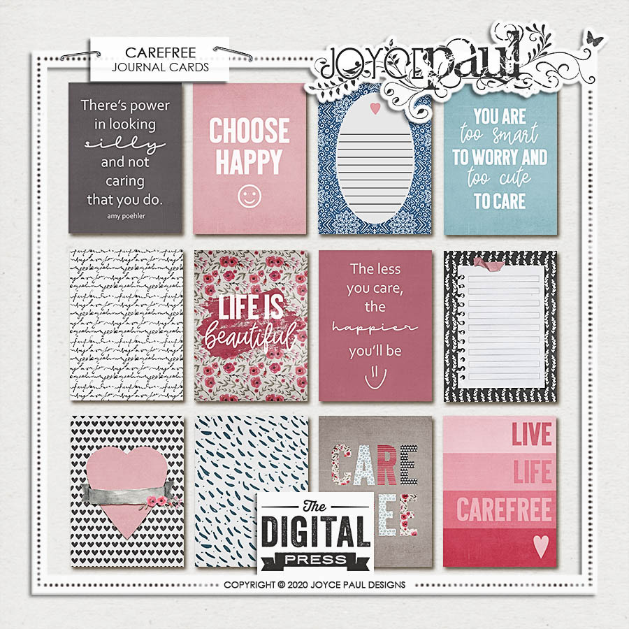 Carefree   Journal Cards