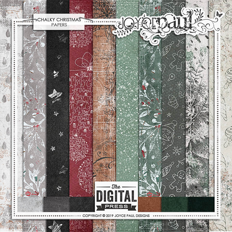 Chalky Christmas | Papers by Joyce Paul