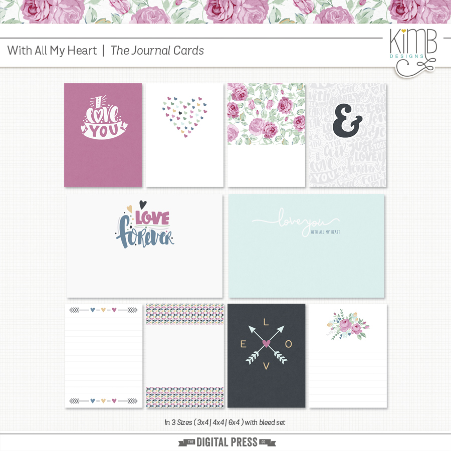 With All My Heart : Journal Cards