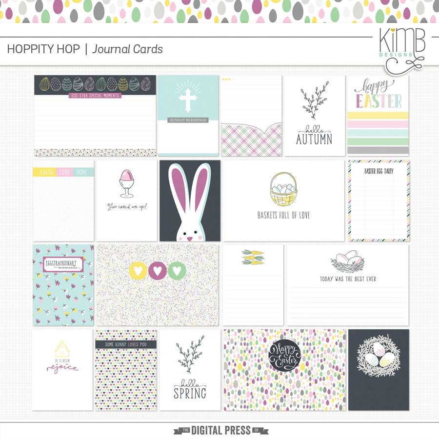 Hoppity Hop : Journal Cards
