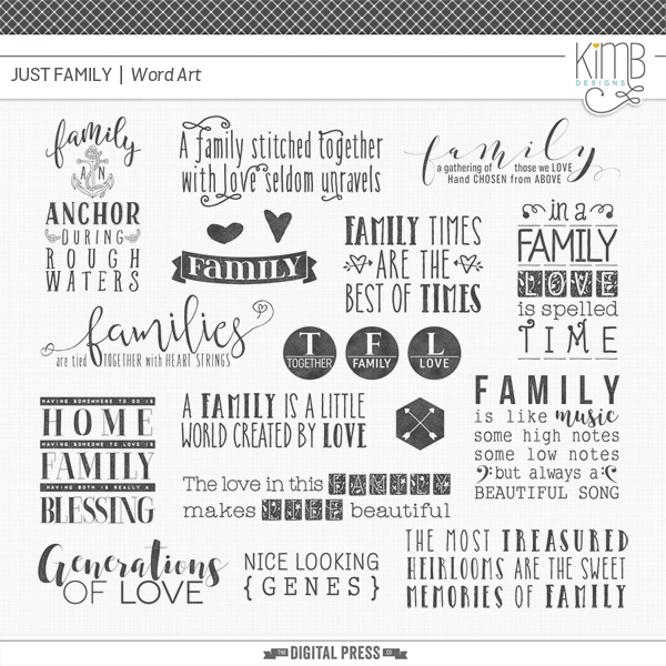 Just Family 1 : Word Art