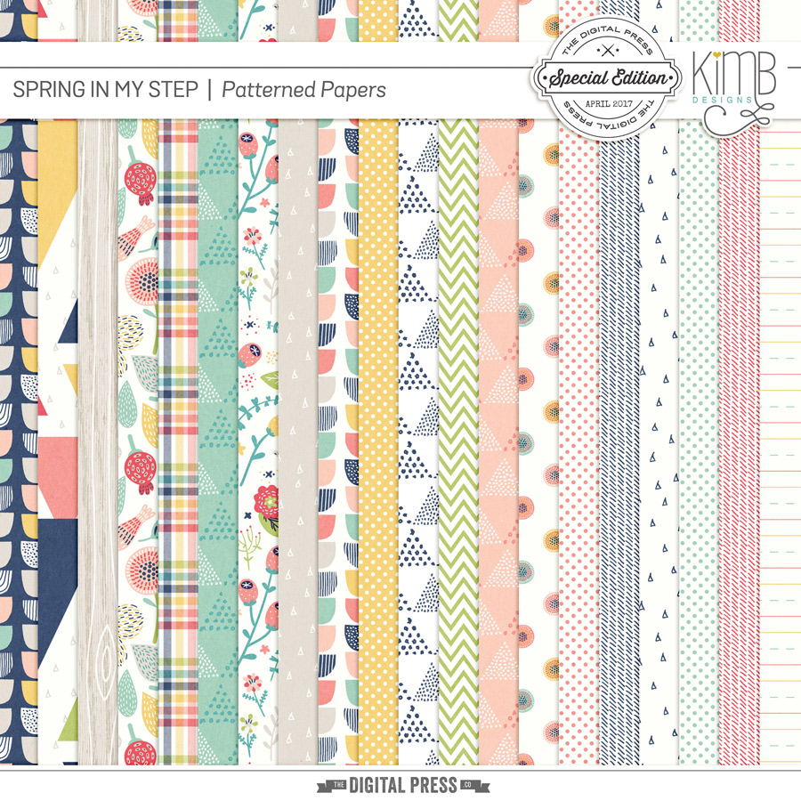 Spring in my Step : The Patterned Papers